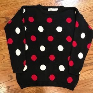 Vintage Venezia Sweater with polka dots,size 18/20